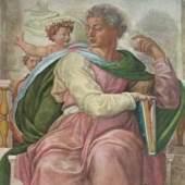 Michelangelo Buonarroti 1475 - 1564   Der Prophet Jesaias Deckenfresco in der Sixtinischen Kapelle in Rom. Bildmaterial: reisserbilder.at