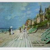Monet Claude 1840 - 1926   Strand in Trouville Wadsworth Atheneum, Hartford, Connecticut. Bildmaterial: reisserbilder.at