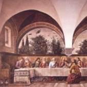 Domenico Ghirlandaio, Alte Meister Florentinisch, 1449 - 1494 Das letzte Abendmahl Fresko, ca. 1486 ( 4 x 8 m ) Bildmaterial: www.uni-koeln.de