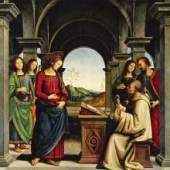 Pietro Perugino  Entstanden: 1489  Alte Pinakothek, München  Holz, 173 X 170 cm. Bildmaterial: www.meisterwerke-online.de