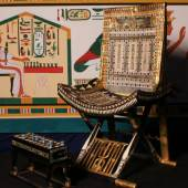 Zeremonialstuhl des Pharaos Tutanchamun (c) aegyptenausstellung.de