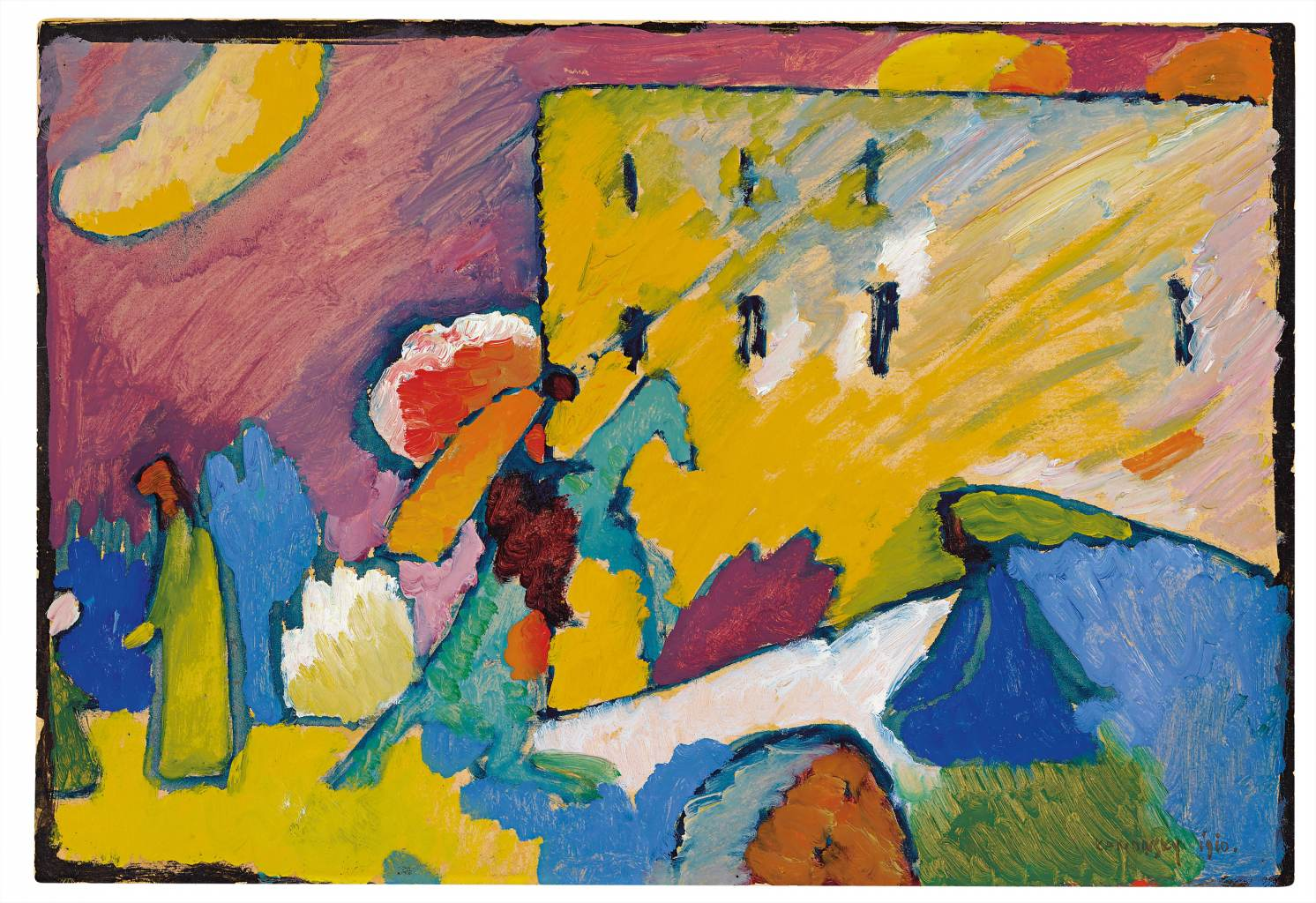 wassily kandinsky studie zu improvisation 3 1909 l und gouache auf karton - Wassily Kandinsky Lebenslauf