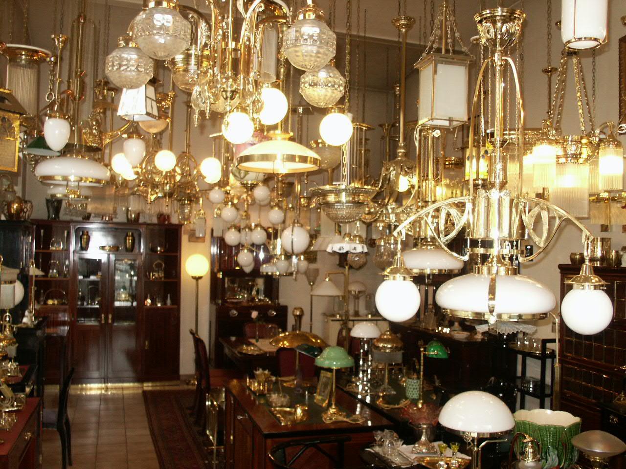 antiquitäten jugendstil lampen